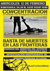 concentració homenatge victimes assassinades a ceuta