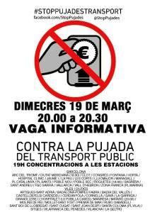 vaga d'usuaries transport public i concentracions