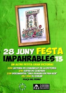 Cartel Festa Impahrables 13-3