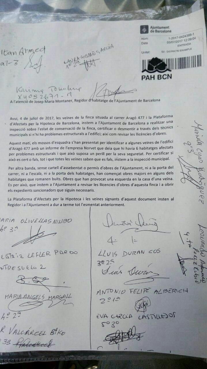 [Comunicat] Inspecció de l'estat de conservació d'#Aragó477