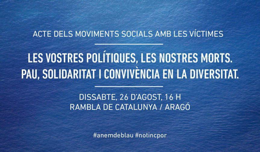 Aquest dissabte #26A, sortim al carrer i #anemdeblau per mostrar que no tenimpor