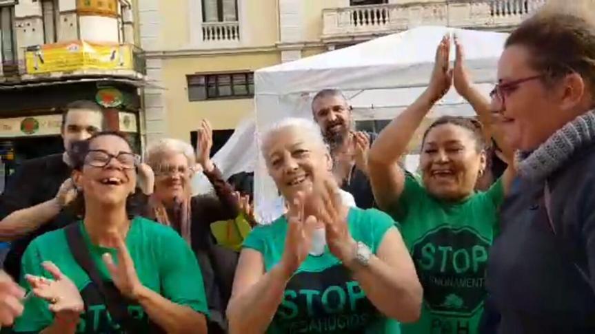 Celebramos la victoria tras 8 días de #AcamPAHdaHospitalet